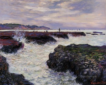 The Rocks at Pourville Low Tide Claude Monet Oil Paintings