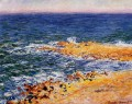 The Sea in Antibes Claude Monet