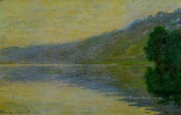 The Seine at PortVillez Blue Effect Claude Monet Oil Paintings
