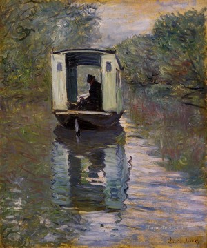 Boat Painting - The Studio Boat Claude Monet