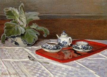 The Tea Set Claude Monet Oil Paintings