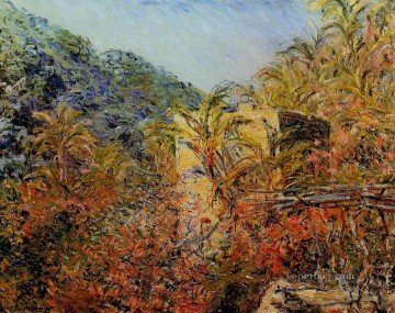 Sun Oil Painting - The Valley of Sasso Sunshine Claude Monet