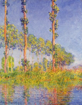 Tree Painting - Three Poplar Trees Autumn Effect Claude Monet