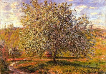 Tree in Flower near Vetheuil Claude Monet Oil Paintings