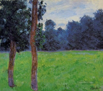 Tree Painting - Two Trees in a Meadow Claude Monet