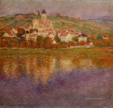 Claude Monet Painting - Vetheuil Pink Effect Claude Monet