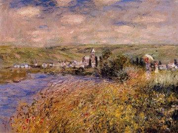 Monet Oil Painting - Vetheuil Seen from Ile Saint Martin Claude Monet