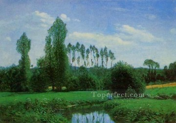 View near Rouelles Claude Monet Oil Paintings