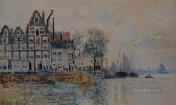 View of Amsterdam Claude Monet Oil Paintings