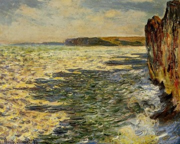 Waves and Rocks at Pourville Claude Monet Oil Paintings