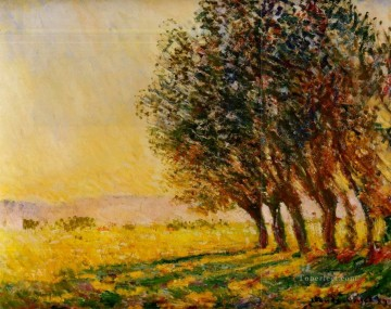 Sun Oil Painting - Willows at Sunset Claude Monet