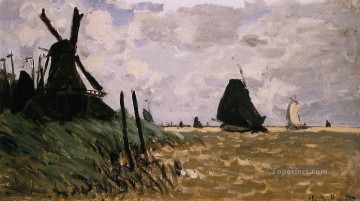 Windmills near Zaandam Claude Monet Oil Paintings