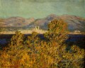 Antibes Seen from the Cape Mistral Wind Claude Monet