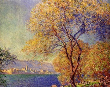 garden Oil Painting - Antibes Seen from the Salis Gardens II Claude Monet