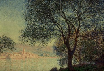 garden Oil Painting - Antibes Seen from the Salis Gardens III Claude Monet