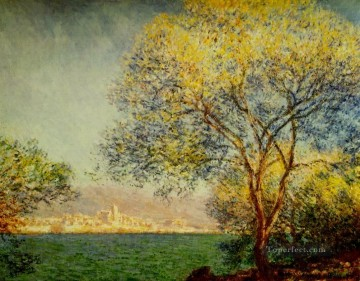 Morning Painting - Antibes in the Morning Claude Monet