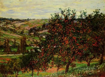 Tree Painting - Apple Trees near Vetheuil Claude Monet
