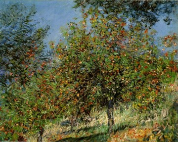 Tree Painting - Apple Trees on the Chantemesle Hill Claude Monet
