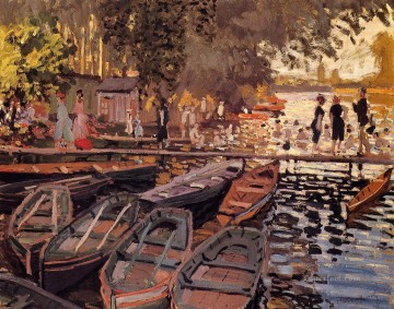 Bath Painting - Bathers at La Grenouillere Claude Monet