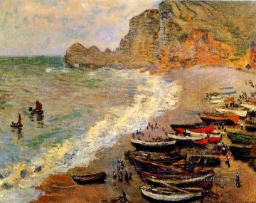 beach Art - Beach at Etretat Claude Monet