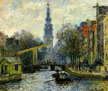 Claude Monet Painting - Canal in Amsterdam Claude Monet