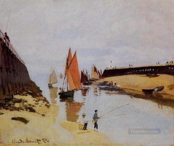 Claude Monet Painting - Entrance to the Port of Trouville Claude Monet