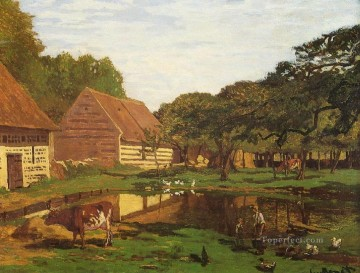 farm Works - Farmyard in Normandy Claude Monet