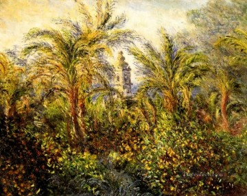 garden Oil Painting - Garden in Bordighera Morning Effect Claude Monet
