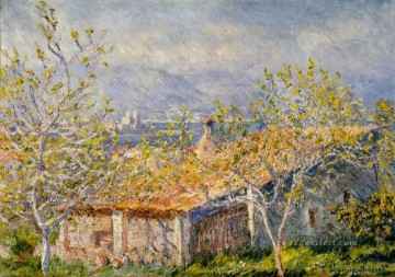 garden Oil Painting - Gardener s House at Antibes Claude Monet