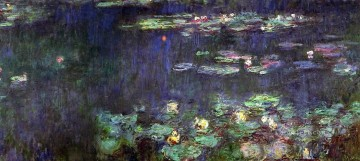 Green Reflection right half Claude Monet Oil Paintings