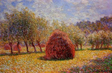 Haystacks at Giverny 1895 莫奈油画、国画