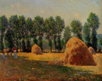 Monet Oil Painting - Haystacks at Giverny Claude Monet