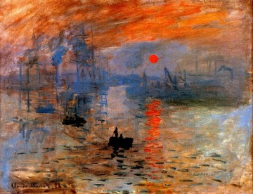 sunset sunrise Painting - Impression Sunrise Claude Monet