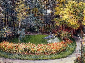 garden Oil Painting - In the Garden Claude Monet