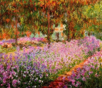 garden Oil Painting - Irises in Monet s Garden Claude Monet