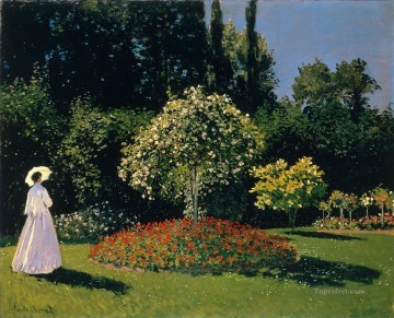 garden Oil Painting - JeanneMarguerite Lecadre in the Garden Claude Monet