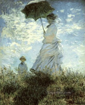La Promenade Claude Monet Oil Paintings