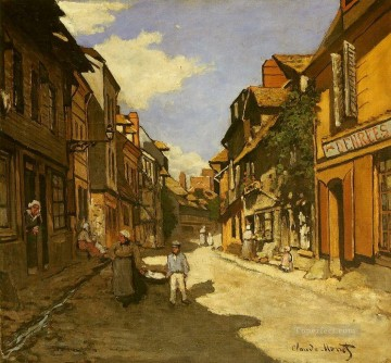 Le Rue de La Bavolle at Honfleur II Claude Monet Oil Paintings