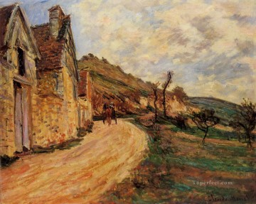 Les Roches at Falaise near Giverny Claude Monet Oil Paintings