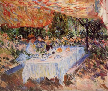 Claude Monet Painting - Luncheon under the Canopy Claude Monet