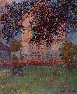 Argenteuil Canvas - Monet s House in Argenteuil Claude Monet