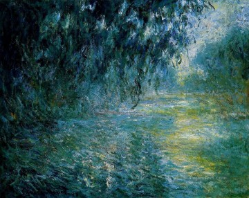 Morning Painting - Morning on the Seine in the Rain Claude Monet