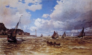 monet banks of the seine Painting - Mouth of the Seine at Honfleur Claude Monet