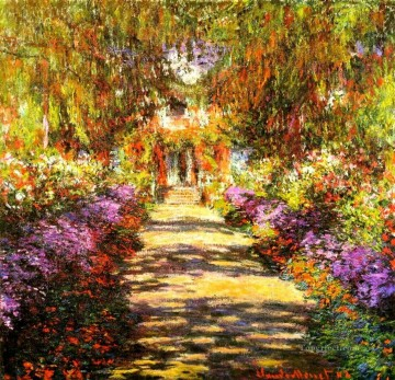 garden Oil Painting - Pathway in Monet s Garden at Giverny Claude Monet