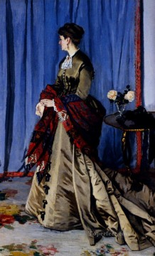 Portrait Of Madame Gaudibert Oil Paintings