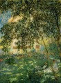 Relaxing in the Garden Argenteuil Claude Monet