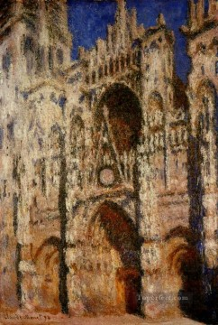 cat Art Painting - Rouen Cathedral Claude Monet