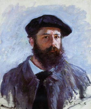 Self Painting - Self Portrait with a Beret Claude Monet