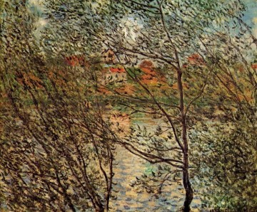 Springtime through the Branches Claude Monet Oil Paintings