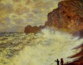 Stormy Weather at Etretat Claude Monet